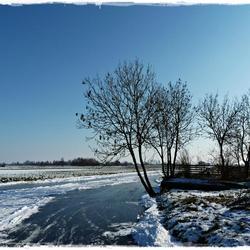 Winterlandschap in de Krimpenerwaard....