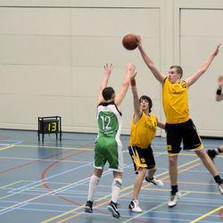 Geweldig blok tijdens basketbal wedstrijd