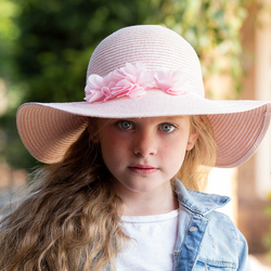 het meisje met de roze hoed