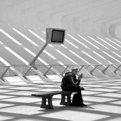 wachten op station Luik Guillemin