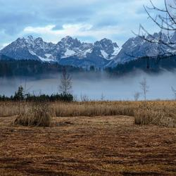 Schwartzsee met mist