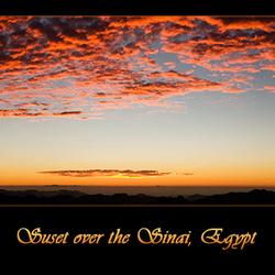 Zonsopkomst Sinai, Egypte