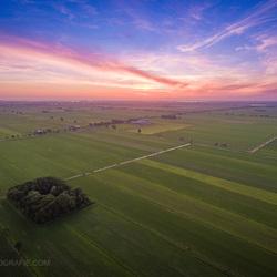 Zonsondergang met de drone.