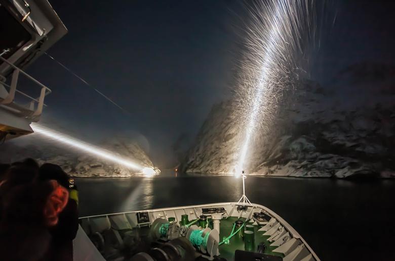 Lofoten, ingang Trollfjord -