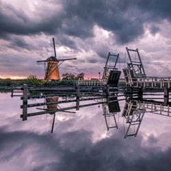 Cloudy windmill