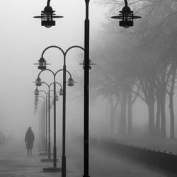 Flaneren in de mist