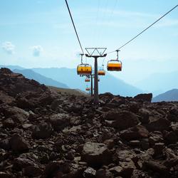 Bergbaan naar Zwitserland