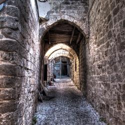 Steegje in oude stad van Rhodos