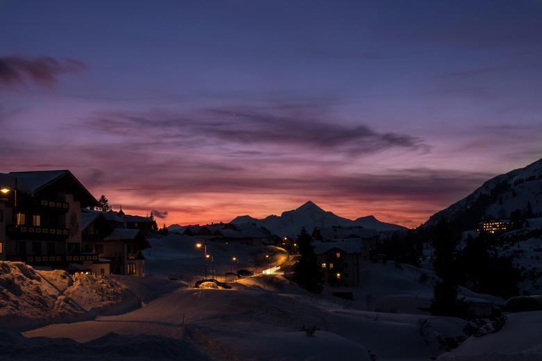 Sunset in Obertauern