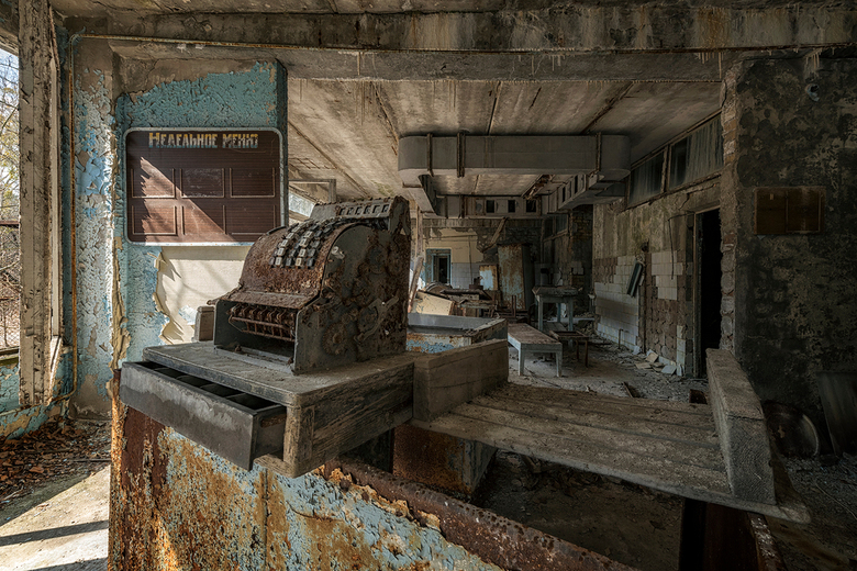 Closed until further notice - Middle School Nr. 3 canteen and kitchen, Pripyat.
