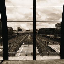 De lijnen van Amsterdam Sloterdijk