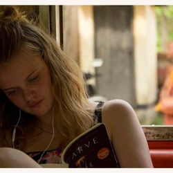 Girl on a train to Puttalam, Sri Lanka