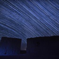 Samenvatting van mijn nacht onder de sterrenhemel