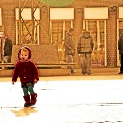 klein kind in de grote wereld