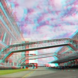 van Nelle gebouw Rotterdam 3D fish-eye