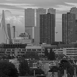 Stukje Rotterdam in zwartwit