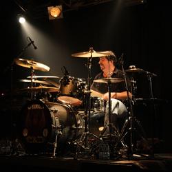 Drummer in the spotlight