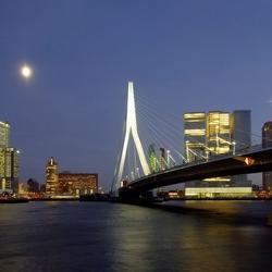 avond sfeer in Rotterdam