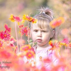 in de bloemetjes