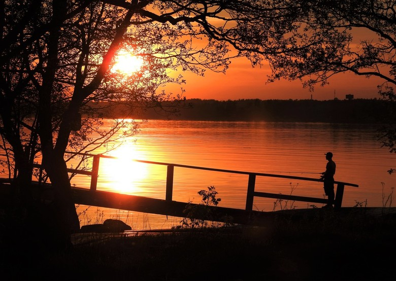 zonsondergang in Finland