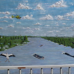 Tacitusbrug (A50) over de waal bij Ewijk