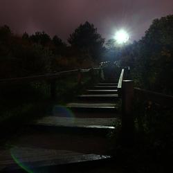 Vuurtoren Vlieland bij nacht.