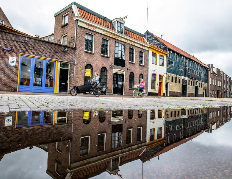 Wageweg - De Wageweg in Alkmaar. Op Pad geweest na een flinke regenbui