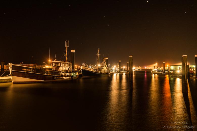 Haven Lauwersoog bij nacht (1) -