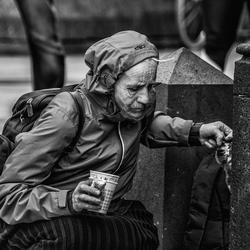 Vrouw in Keulen