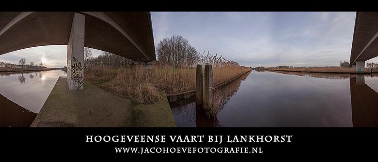 Panorama Hoogeveense Vaart - Panorama Hoogeveense Vaart bij Lankhorst. Genomen op 18 januari 2014.
