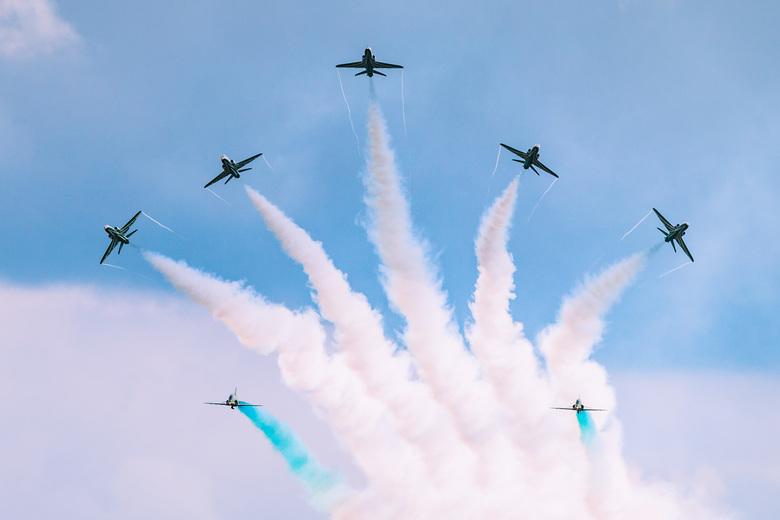 Saudi Hawks at Sanicole airshow - Mocht je in Noord Brabant wonen, en gek zijn op vliegtuigen, dan is het zeker te overwegen om naar de Sanicole Airsh