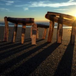 Stonehenge on the beach....