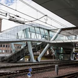 Perron centraal station te Arnhem