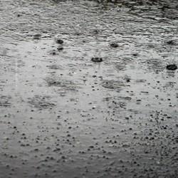 just raining