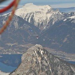Ballonvaren boven de Alpen