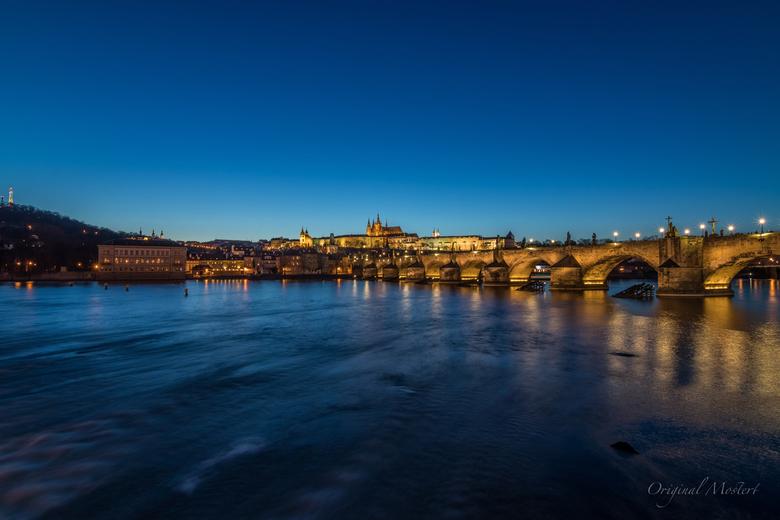 Prague at dusk...