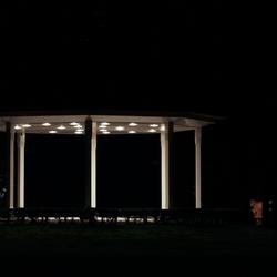 Muziek Kiosk Bij Nacht Oosterhout