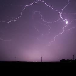 Onweer boven de Oosterschelde