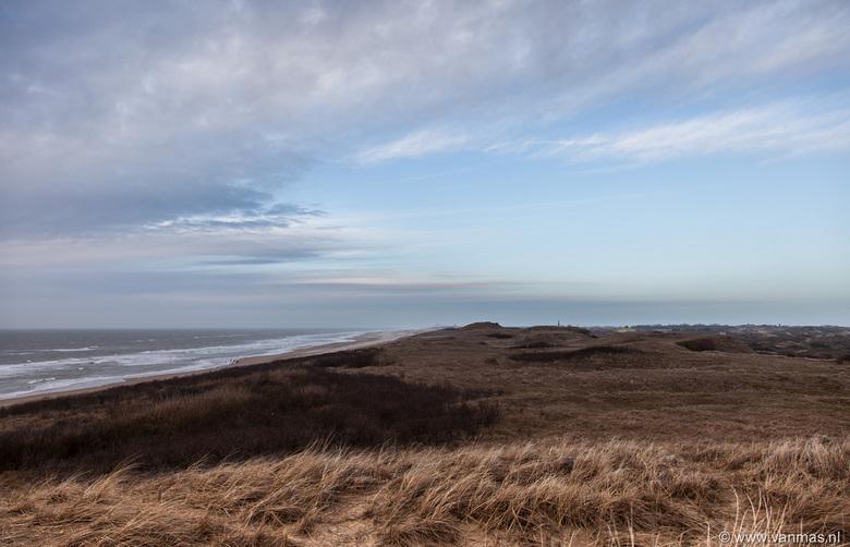 Duinen kijk op Katwijk - Vanaf de tweede strand opgang kijkend naar Katwijk (noorden).