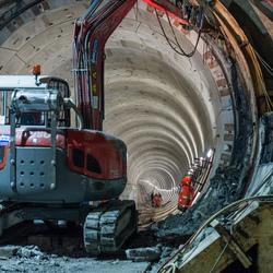 Tunnelboren voor de Noord/Zuidlijn Amsterdam is klaar