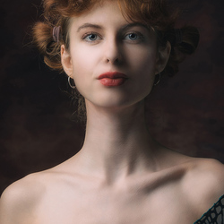 classical portrait of a young woman