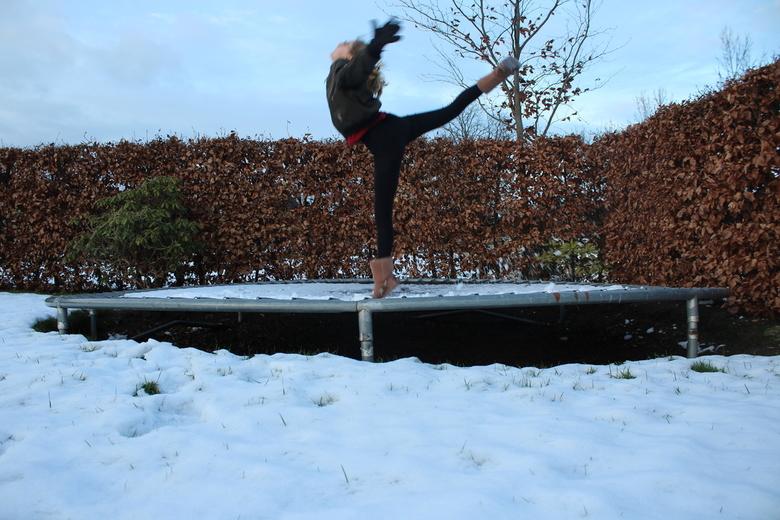 ballerina - vandaag gemaakt met behulp van een kleine ladder. Daar heb ik mijn camera opgezet en een timer gebruikt. Fijn weekend groetjes