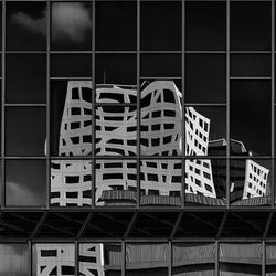 Reflectie stadskantoor Utrecht.
