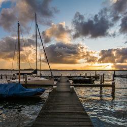 Zonsondergang bij het Oldambtmeer