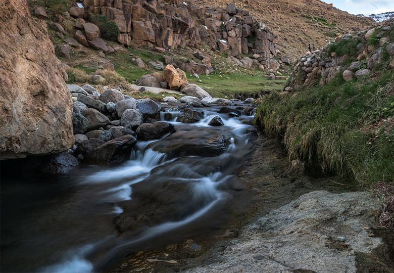 Livestream - Een waterval in het Jebel Siroua berggebied in Marokko. Onze gids vertelde dat dit pas de 2e keer in zijn 16 jaar als gids was dat hij wa