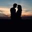 liefde met zonsondergang