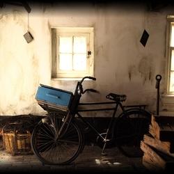 in een oude schuur