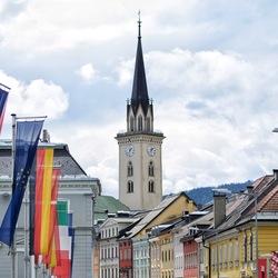 The colorful city of Villach, Austria
