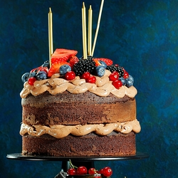 Sweet Cake & Berries Food Photography