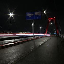 Op de Willemsbrug Rotterdam